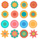 Vector of colourful Flower set Stock Image