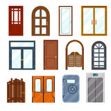 Vector colourful front doors Stock Image