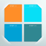 4 Vector Colourful Square Blank Text Boxes Template Stock Photo