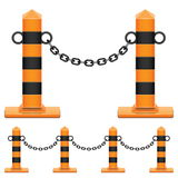Vector Column with Chain Stock Photo