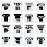 Vector Column icon set Stock Images