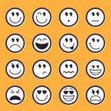 Vector común de los Emoticons Fotos de archivo