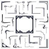 Vector común Esquinas abstractas para crear un marco de las líneas encuadernadas Foto de archivo