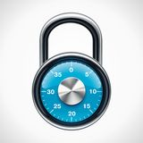 Vector combination padlock Royalty Free Stock Photos