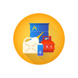 Vector combustible hazardous waste icon Royalty Free Stock Image