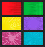 Vector comic background with dots and speed lines Royalty Free Stock Photo