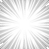 Vector comic book speed lines background Royalty Free Stock Image