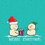 Vector comic cartoon merry christmas illustration Royalty Free Stock Photography