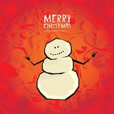 Vector comic cartoon merry christmas illustration Royalty Free Stock Image