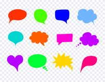 Vector Comic Colorful Design Elements, Talk Bubbles Set. vector illustration