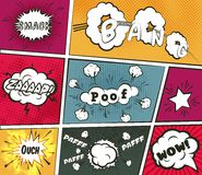 Vector comic effects set Royalty Free Stock Photography
