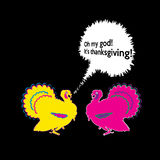 Vector comic funny thanksgiving greeting card Royalty Free Stock Photo