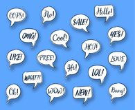 Vector comic speech chat bubbles Royalty Free Stock Image