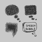 Vector Comical Speech Bubbles Eps8 Stock Photography