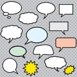 Vector comics speech bubbles illustration Stock Photo