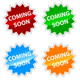 Vector coming soon labels set Stock Photography