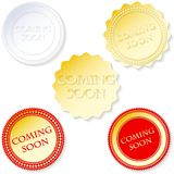 Vector coming soon set Royalty Free Stock Image