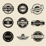 Vector commercial stamps set in vintage style for vector illustration