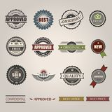 Vector commercial stamps set in vintage style for royalty free illustration