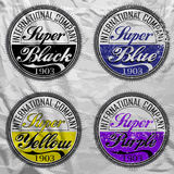 Vector commercial stamps set in vintage style for business and design on white background with grunge effect. Typographic design e Royalty Free Stock Photography