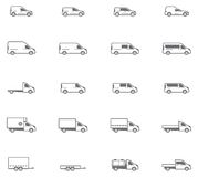 Vector commercial transport icons Royalty Free Stock Photo