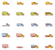 Vector commercial transport icons Stock Photography