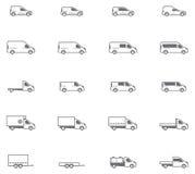 Vector commercieel vervoerpictogrammen vector illustratie