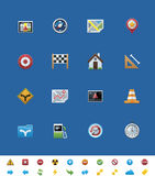 Vector common website icons. GPS navigation Stock Photography