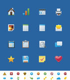 Vector common website icons for webmasters Stock Photo