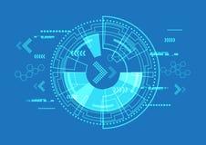 Vector communicatie didital, abstracte technologieachtergrond Stock Afbeeldingen