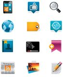 Vector Communication And Social Media Icon Set. Pa Royalty Free Stock Photography