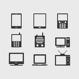 Vector communication device icons Stock Image