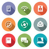 Vector Communication flat icons set Royalty Free Stock Images
