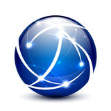 Vector communication globe icon concept Stock Photo