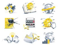 Vector communication icon set. Internet, part 2 Royalty Free Stock Photos