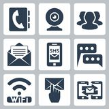 Vector communication icons set Royalty Free Stock Photos