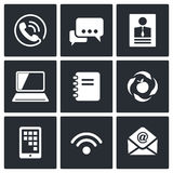 Vector Communication icons set Stock Photography