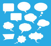 Vector communication speech bubble clouds Royalty Free Stock Photo