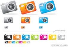 Vector Compact Camera. Colour  illustration of a compact camera Stock Photography