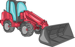 Vector compact wheel loader. Stock Photos