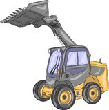 Vector compact wheel loader. Stock Image