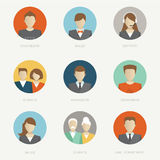 Vector company avatars Royalty Free Stock Photos