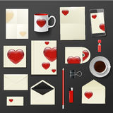 Vector company corporate style with heart template Stock Photography