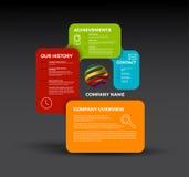 Vector Company infographic概要设计模板 库存图片