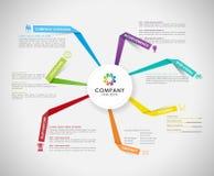 Vector Company infographic概要设计模板 向量例证