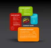 Vector Company infographic overview design template Stock Image
