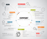 Vector Company infographic overview design template. With colorful labels and icons Royalty Free Stock Image