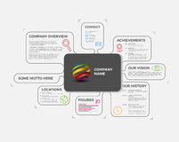 Vector Company infographic overview design template Stock Photography