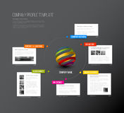 Vector Company infographic overview design template Royalty Free Stock Photos
