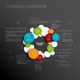 Vector Company infographic overview design template Royalty Free Stock Images